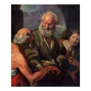 St. Peter Cures the Lame Beggar - Bernardo Strozzi