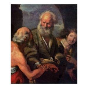St. Peter Cures the Lame Beggar - Bernardo Strozzi
