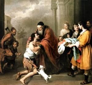 The Return of the Prodigal Son - Bartolome' Murillo, 1670