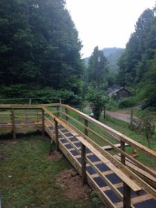 A new wheelchair ramp built through efforts with Hand in Hand Ministries