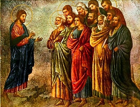 Jesus sends the Apostles c.1300 Duccio Di Buoninsegna