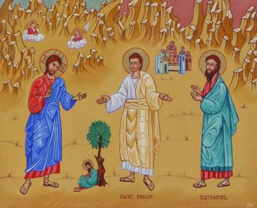 Nathanael meeting Jesus